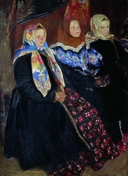 俄罗斯肖像和风俗画家——伊万·库里科夫,曾协助列宾完成巨作插图53