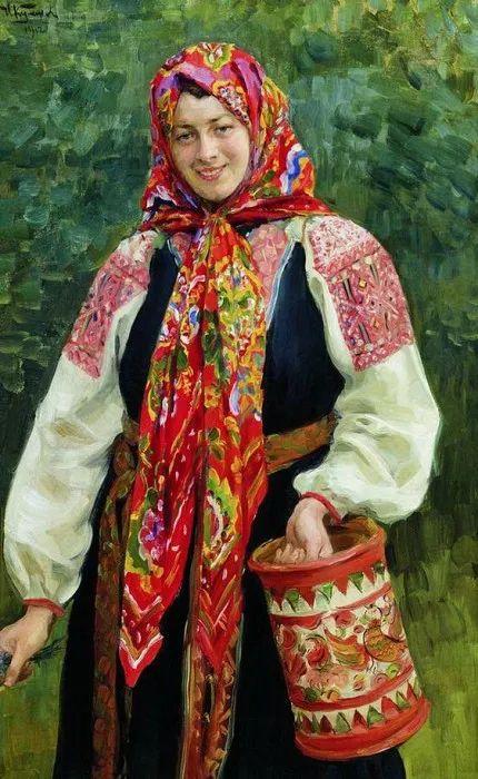 俄罗斯肖像和风俗画家——伊万·库里科夫,曾协助列宾完成巨作插图55