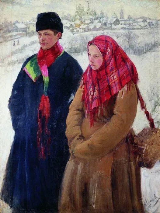 俄罗斯肖像和风俗画家——伊万·库里科夫,曾协助列宾完成巨作插图57