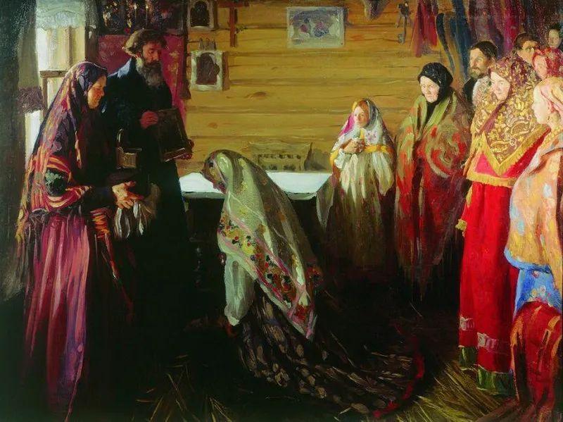 俄罗斯肖像和风俗画家——伊万·库里科夫,曾协助列宾完成巨作插图67
