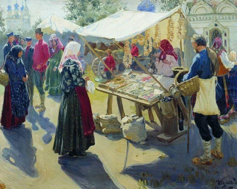 俄罗斯肖像和风俗画家——伊万·库里科夫,曾协助列宾完成巨作插图79