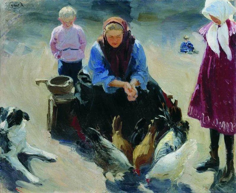 俄罗斯肖像和风俗画家——伊万·库里科夫,曾协助列宾完成巨作插图83