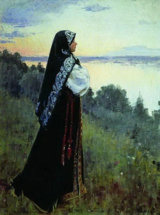 俄罗斯肖像和风俗画家——伊万·库里科夫,曾协助列宾完成巨作插图105