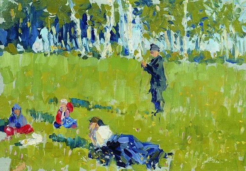 俄罗斯肖像和风俗画家——伊万·库里科夫,曾协助列宾完成巨作插图107