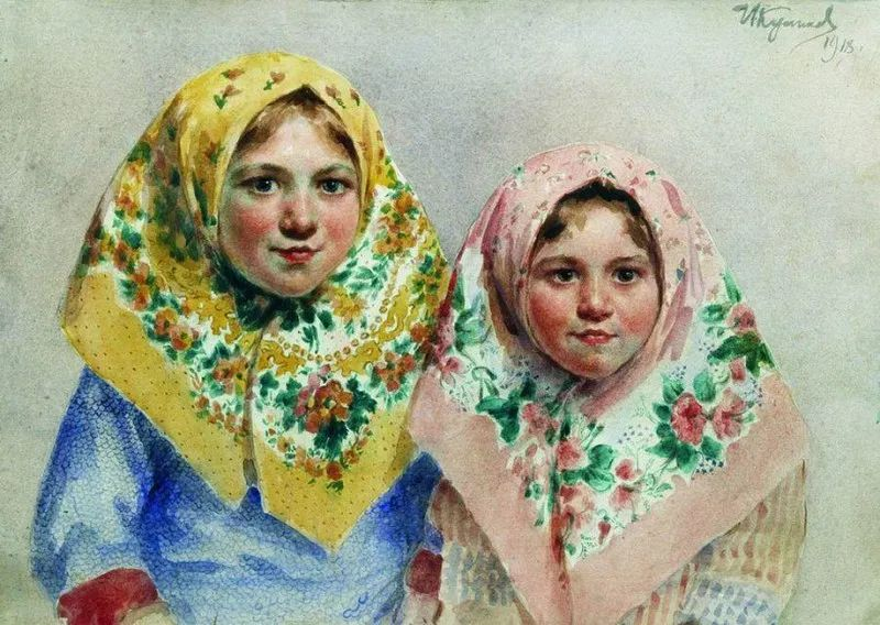 俄罗斯肖像和风俗画家——伊万·库里科夫,曾协助列宾完成巨作插图109