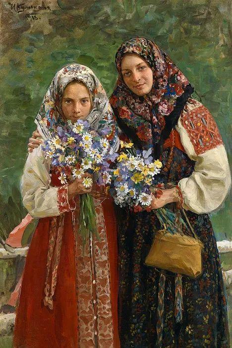 俄罗斯肖像和风俗画家——伊万·库里科夫,曾协助列宾完成巨作插图115
