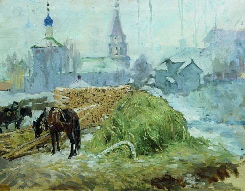 俄罗斯肖像和风俗画家——伊万·库里科夫,曾协助列宾完成巨作插图117