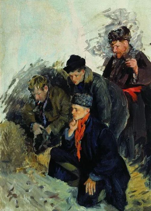 俄罗斯肖像和风俗画家——伊万·库里科夫,曾协助列宾完成巨作插图123