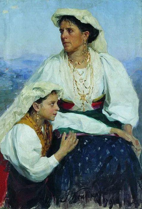 俄罗斯肖像和风俗画家——伊万·库里科夫,曾协助列宾完成巨作插图129
