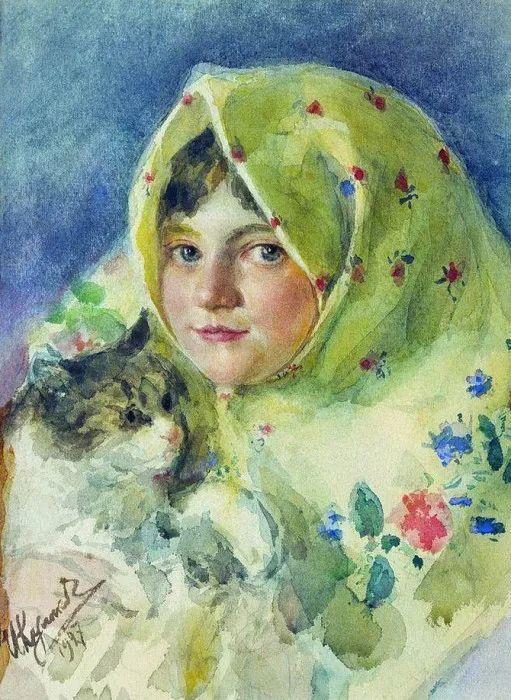 俄罗斯肖像和风俗画家——伊万·库里科夫,曾协助列宾完成巨作插图131