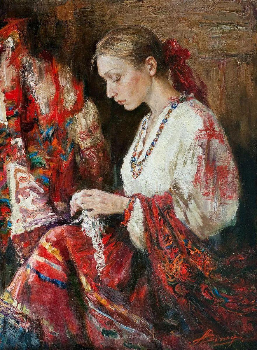 安娜人物肖像作品,浓浓的俄罗斯油画风韵!插图1
