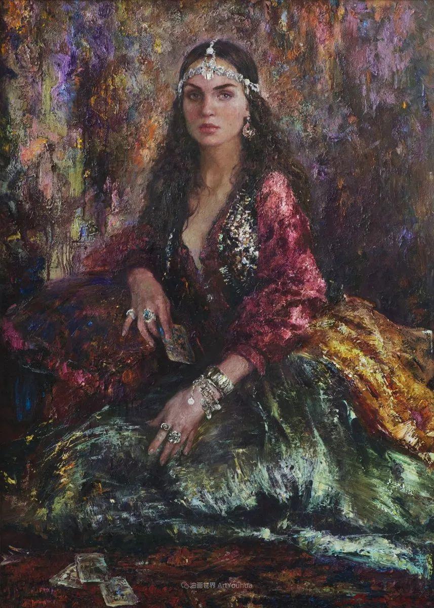 安娜人物肖像作品,浓浓的俄罗斯油画风韵!插图3
