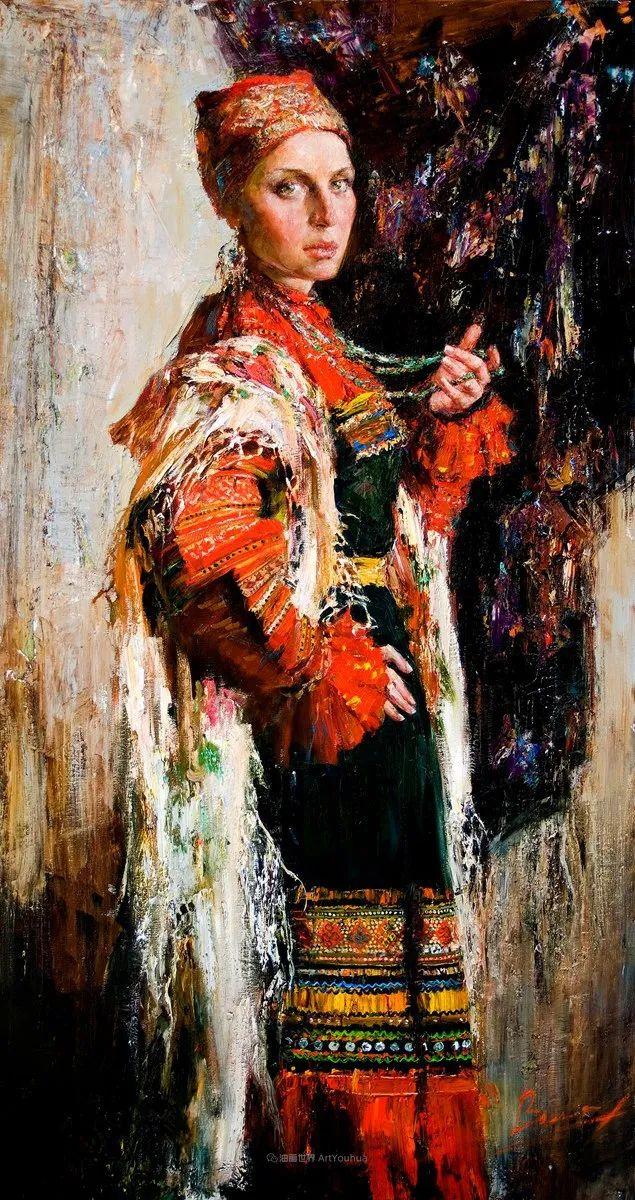 安娜人物肖像作品,浓浓的俄罗斯油画风韵!插图9