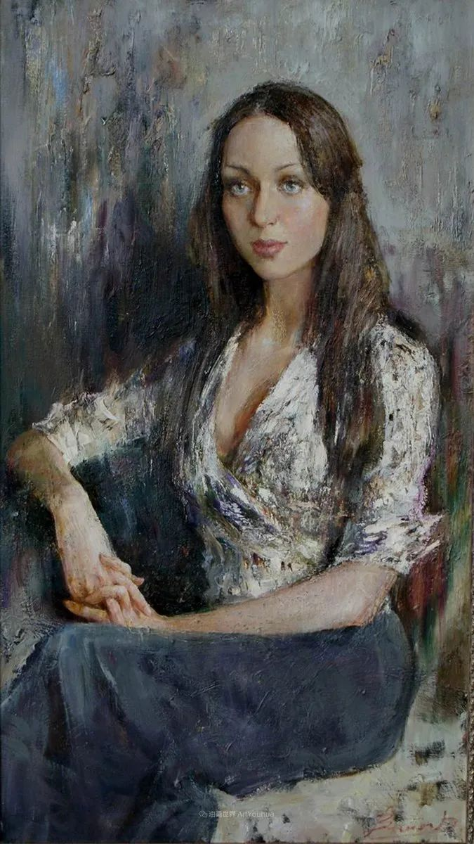 安娜人物肖像作品,浓浓的俄罗斯油画风韵!插图17