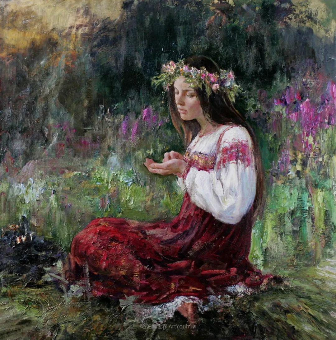 安娜人物肖像作品,浓浓的俄罗斯油画风韵!插图29