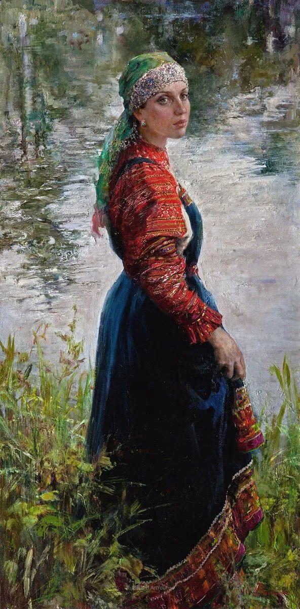 安娜人物肖像作品,浓浓的俄罗斯油画风韵!插图35