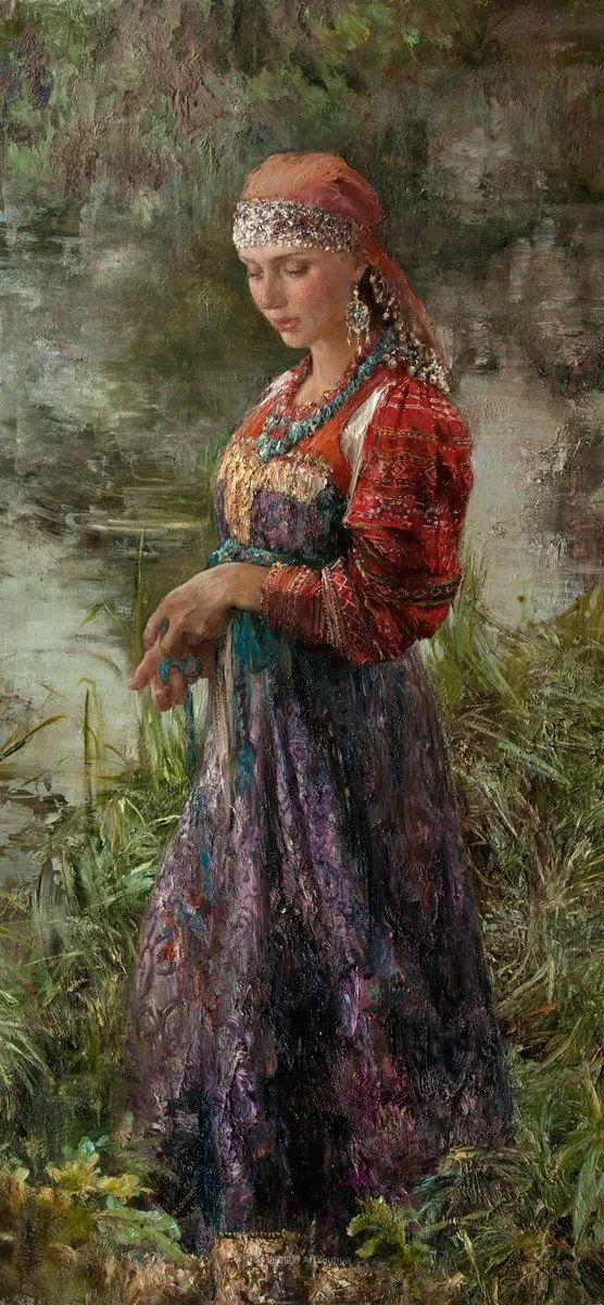 安娜人物肖像作品,浓浓的俄罗斯油画风韵!插图39
