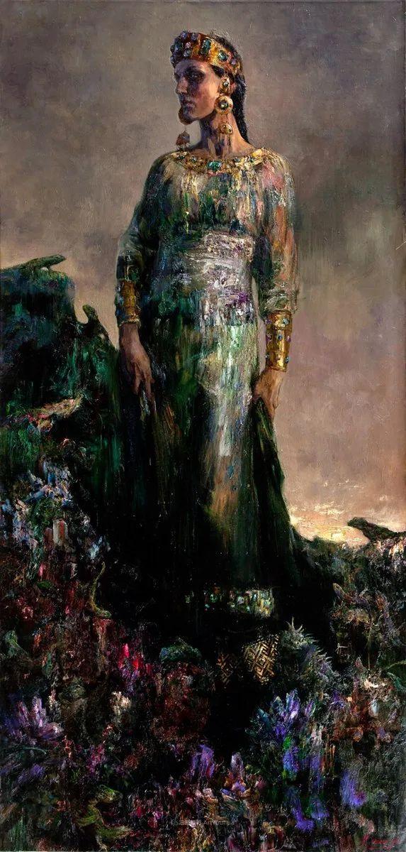 安娜人物肖像作品,浓浓的俄罗斯油画风韵!插图41
