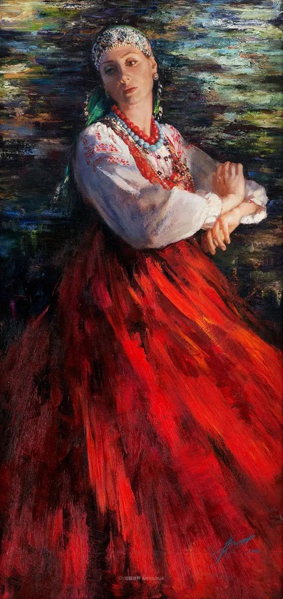 安娜人物肖像作品,浓浓的俄罗斯油画风韵!插图43