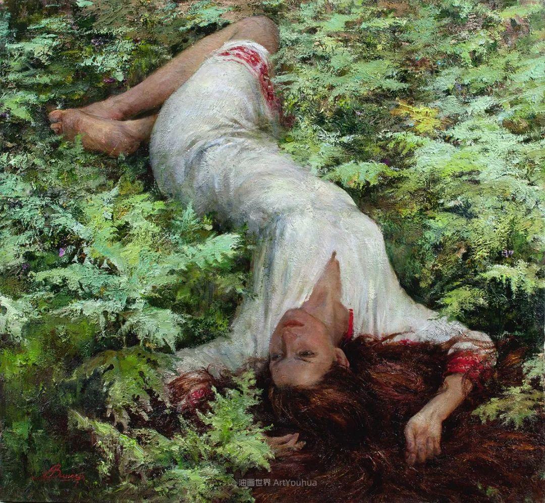 安娜人物肖像作品,浓浓的俄罗斯油画风韵!插图45