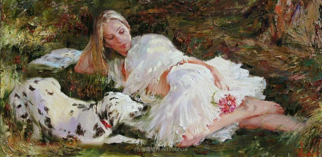 安娜人物肖像作品,浓浓的俄罗斯油画风韵!插图49