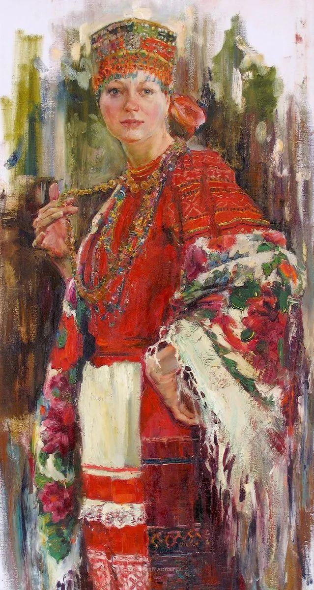 安娜人物肖像作品,浓浓的俄罗斯油画风韵!插图51