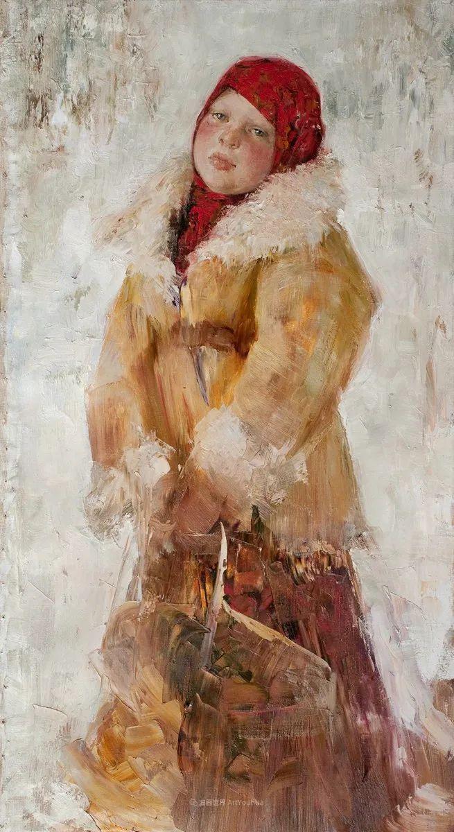 安娜人物肖像作品,浓浓的俄罗斯油画风韵!插图57
