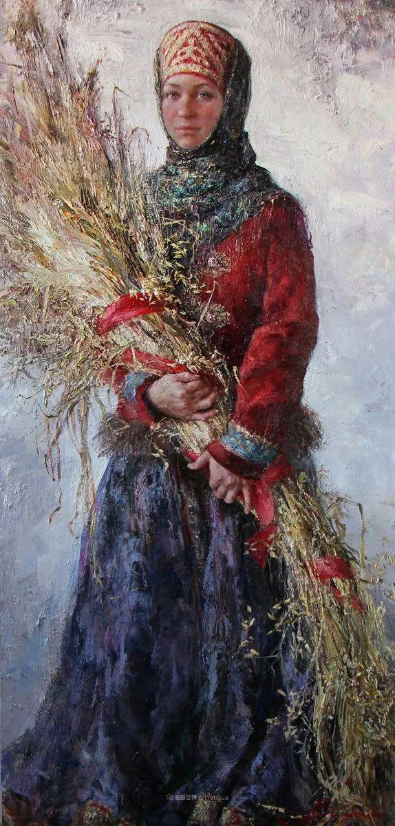 安娜人物肖像作品,浓浓的俄罗斯油画风韵!插图59