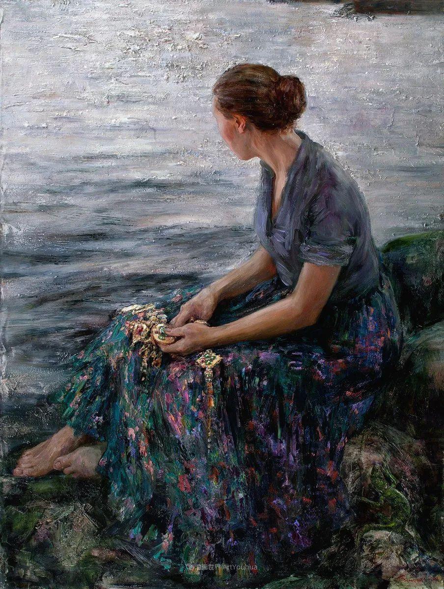 安娜人物肖像作品,浓浓的俄罗斯油画风韵!插图63