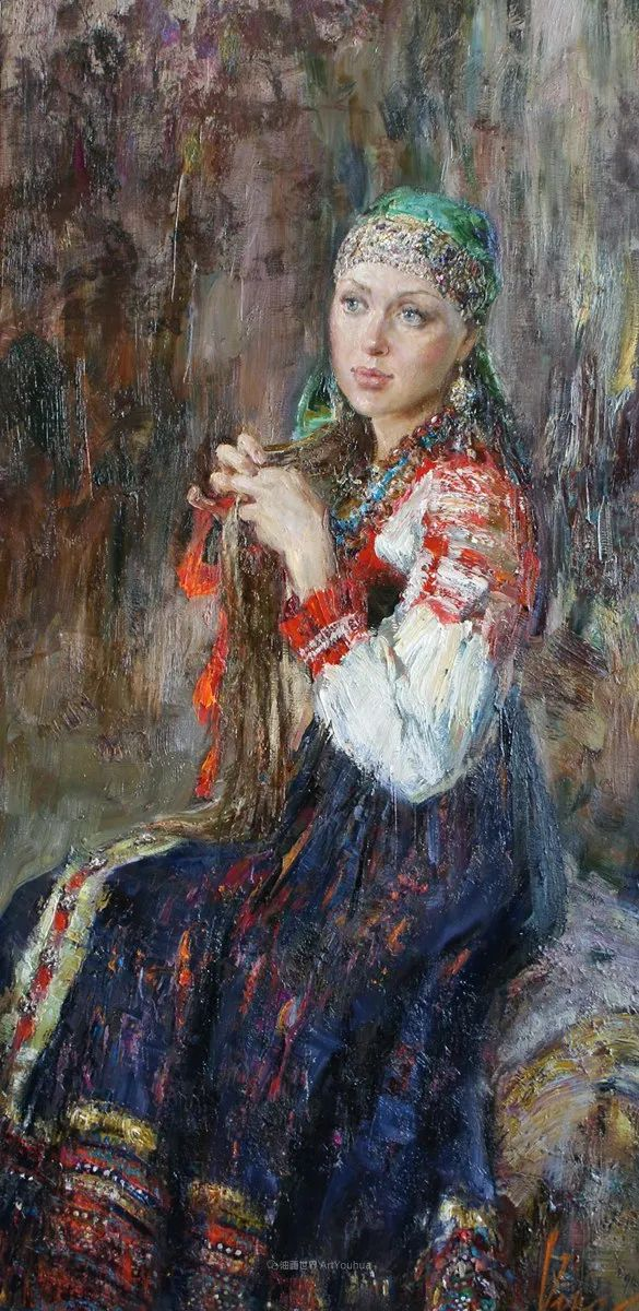 安娜人物肖像作品,浓浓的俄罗斯油画风韵!插图73