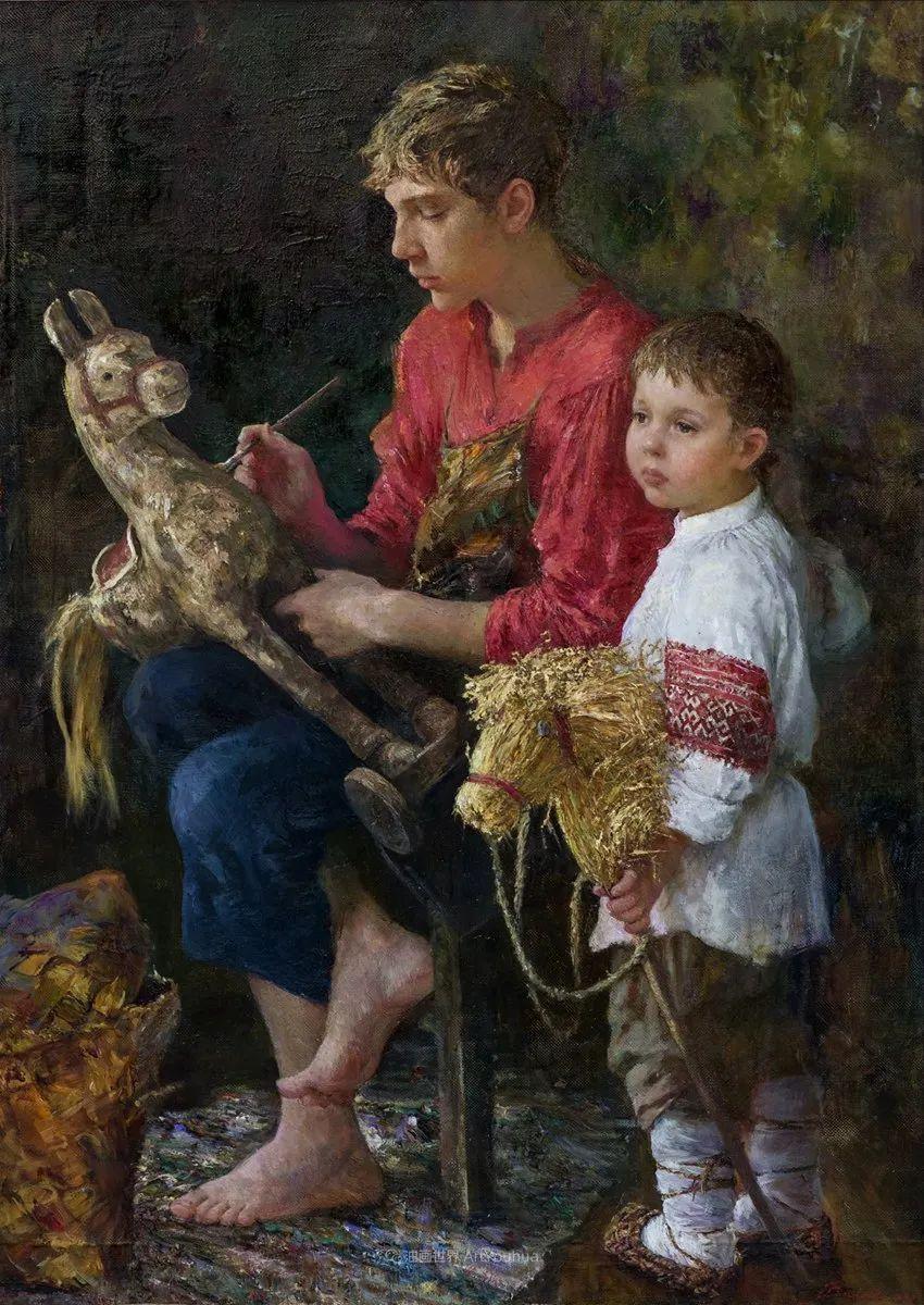安娜人物肖像作品,浓浓的俄罗斯油画风韵!插图77
