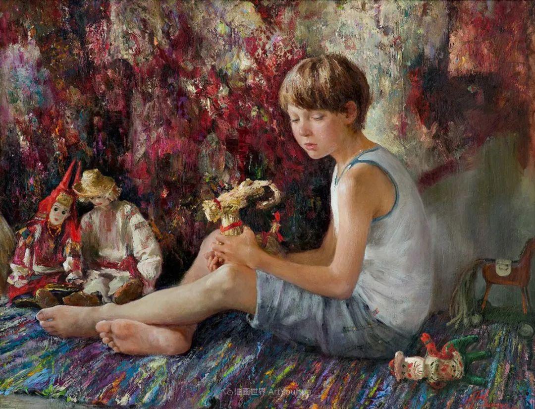 安娜人物肖像作品,浓浓的俄罗斯油画风韵!插图87