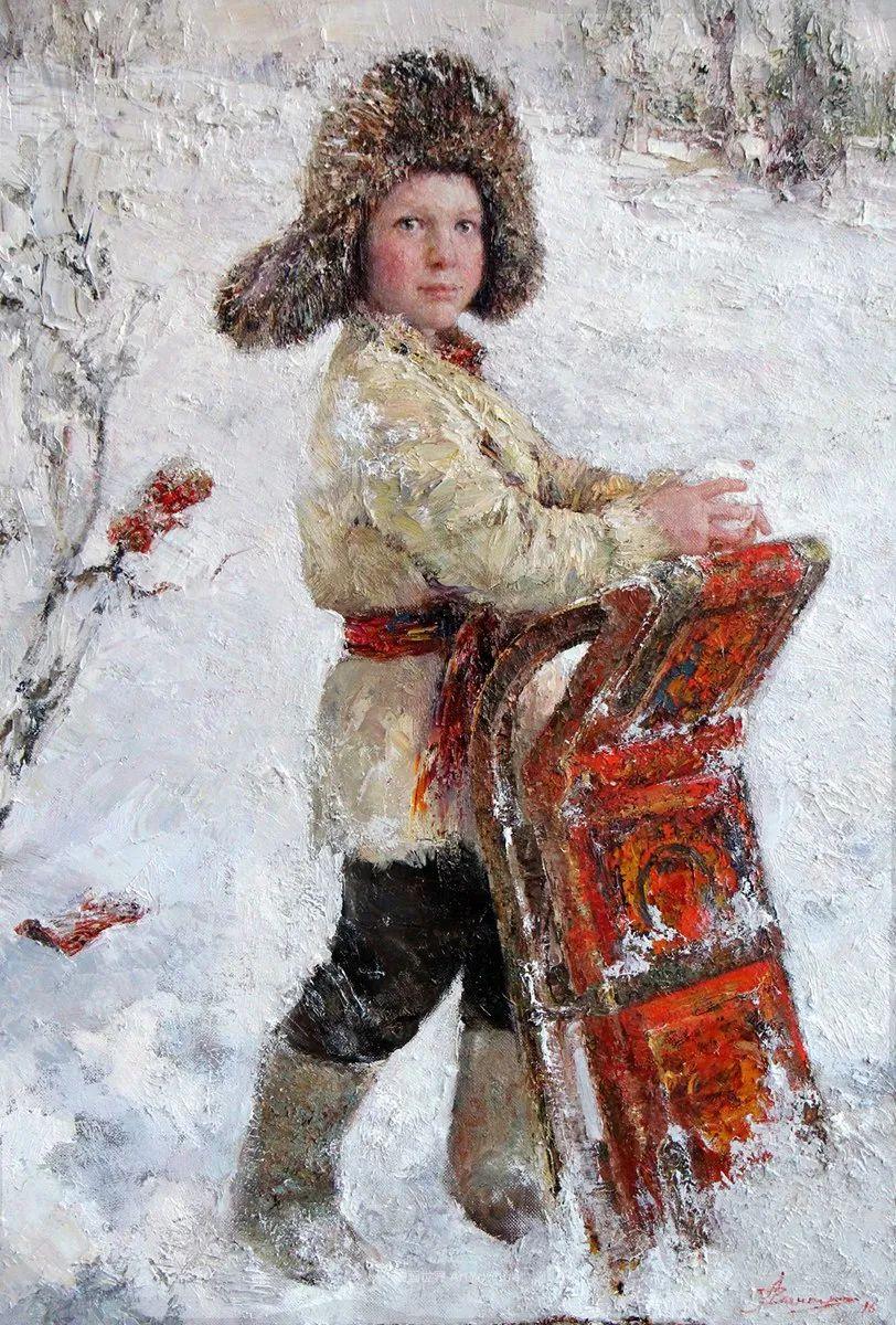 安娜人物肖像作品,浓浓的俄罗斯油画风韵!插图93