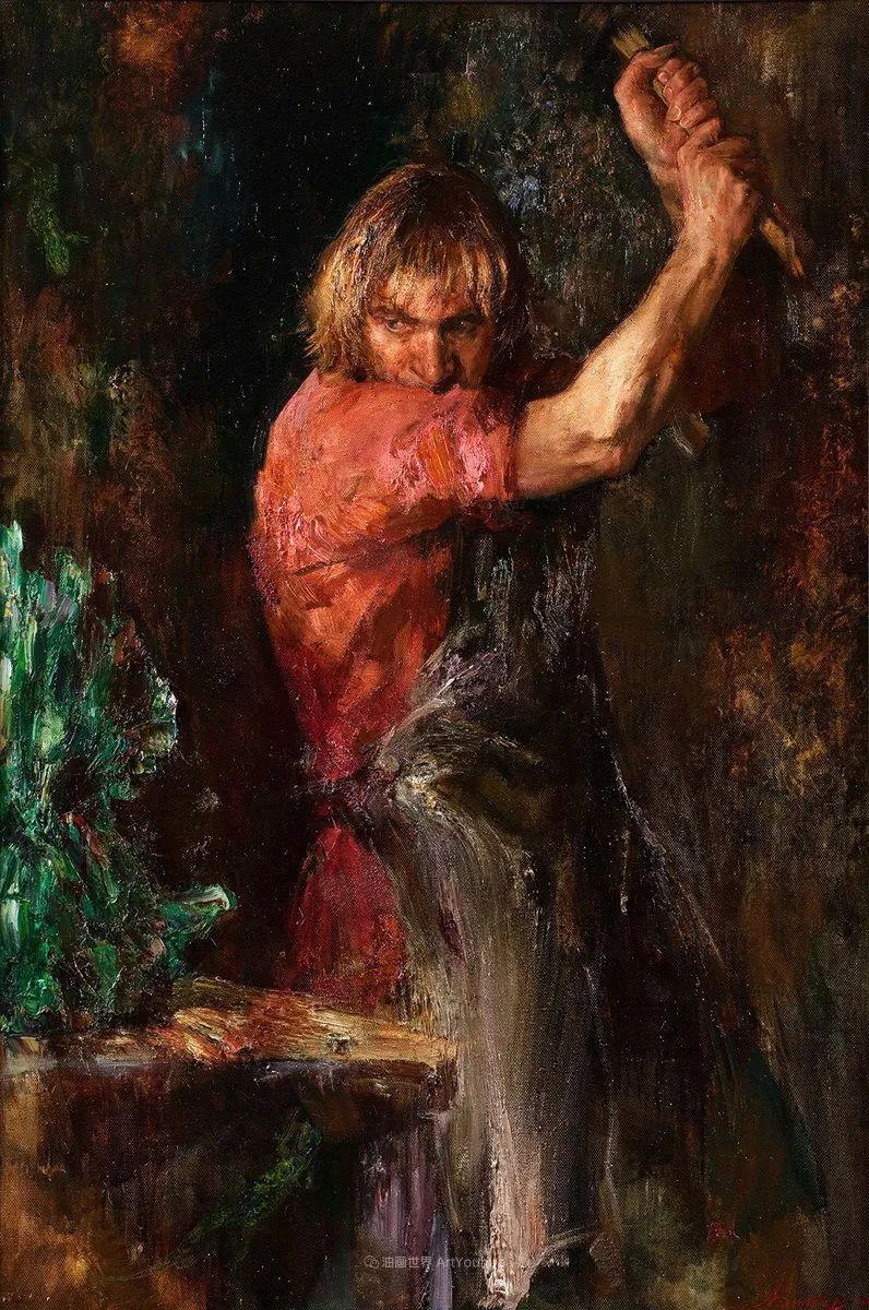 安娜人物肖像作品,浓浓的俄罗斯油画风韵!插图95