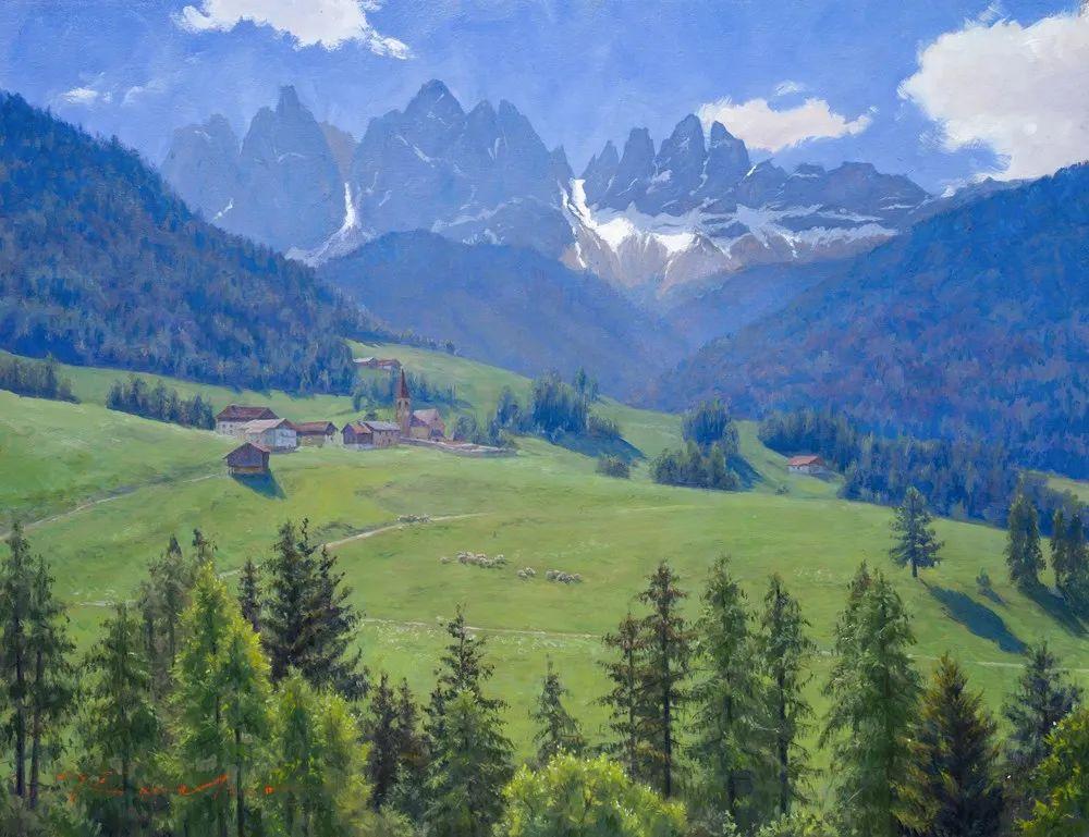 40位画家的61幅Plein Air风景绘画插图79
