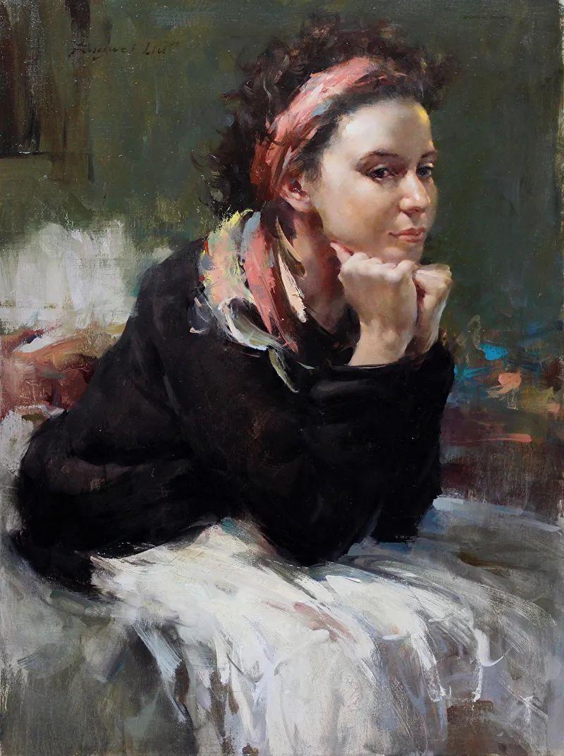 旧金山艺术学院研究生导师,刘方伟肖像油画欣赏插图3