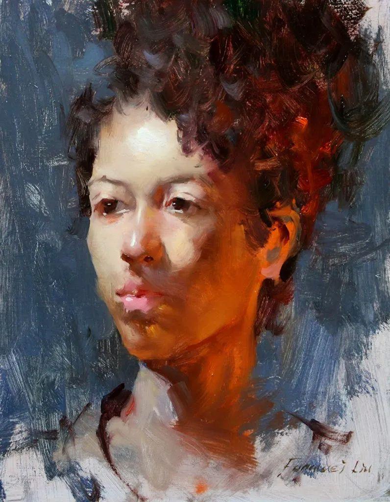 旧金山艺术学院研究生导师,刘方伟肖像油画欣赏插图15