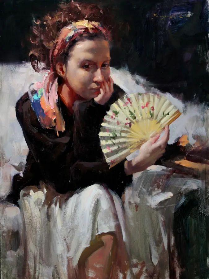 旧金山艺术学院研究生导师,刘方伟肖像油画欣赏插图21