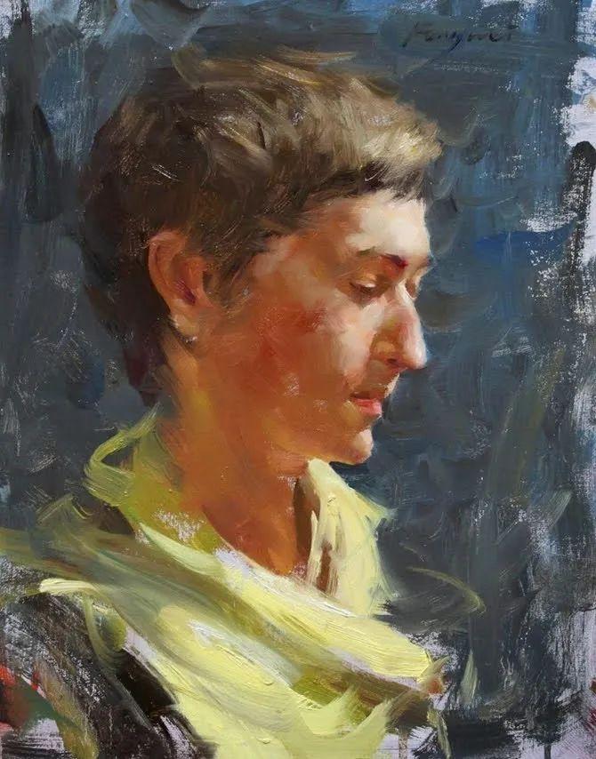 旧金山艺术学院研究生导师,刘方伟肖像油画欣赏插图31