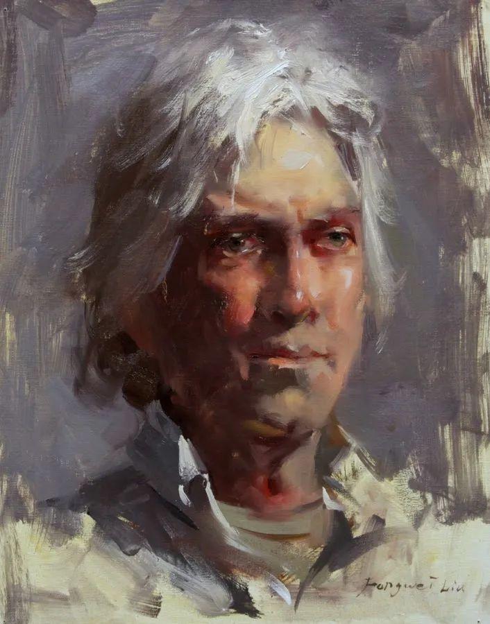 旧金山艺术学院研究生导师,刘方伟肖像油画欣赏插图67