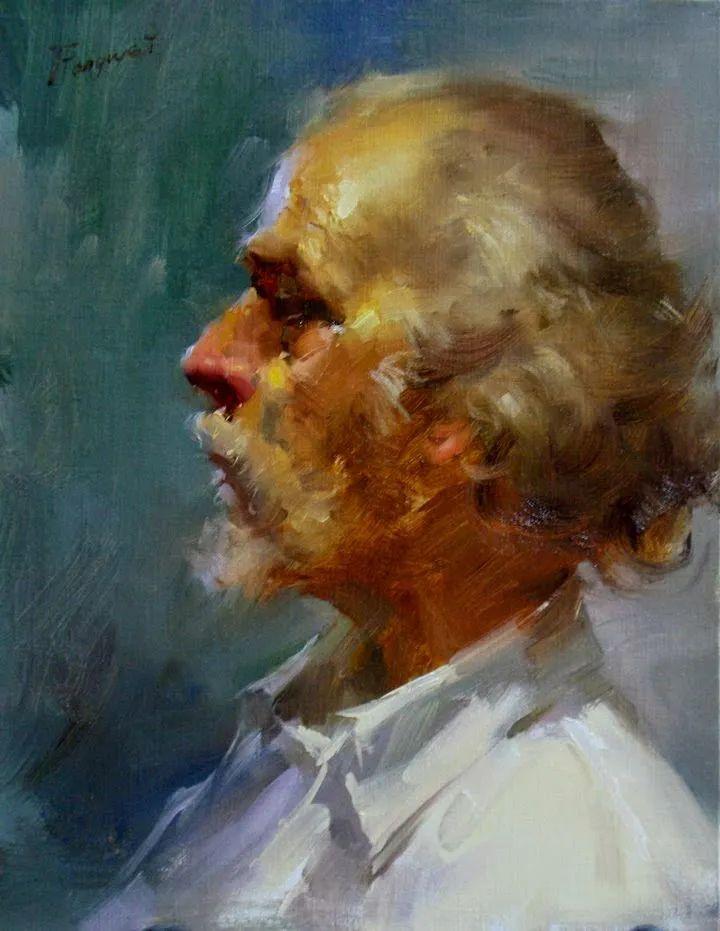 旧金山艺术学院研究生导师,刘方伟肖像油画欣赏插图83