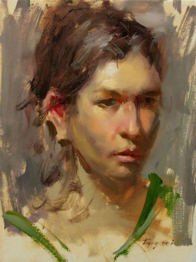 旧金山艺术学院研究生导师,刘方伟肖像油画欣赏插图99