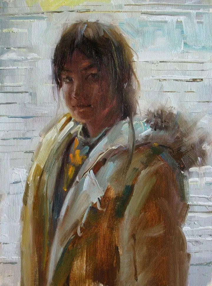 旧金山艺术学院研究生导师,刘方伟肖像油画欣赏插图107