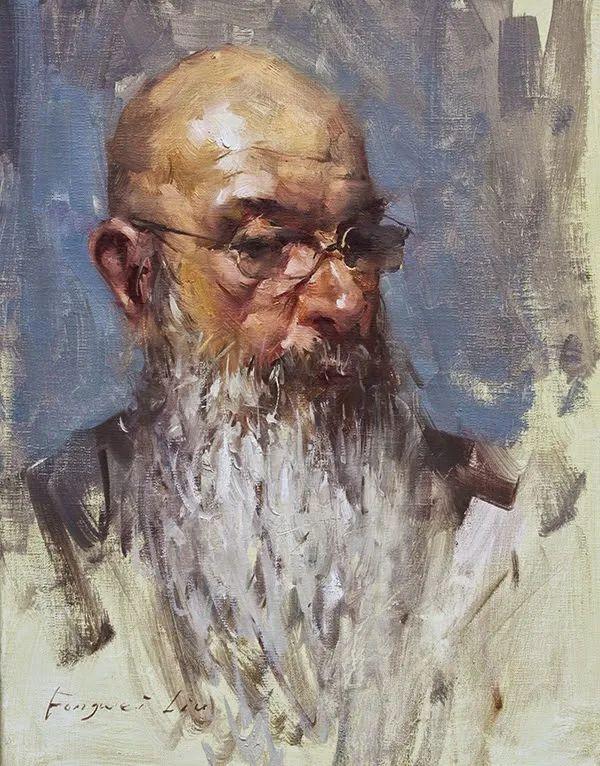 旧金山艺术学院研究生导师,刘方伟肖像油画欣赏插图115