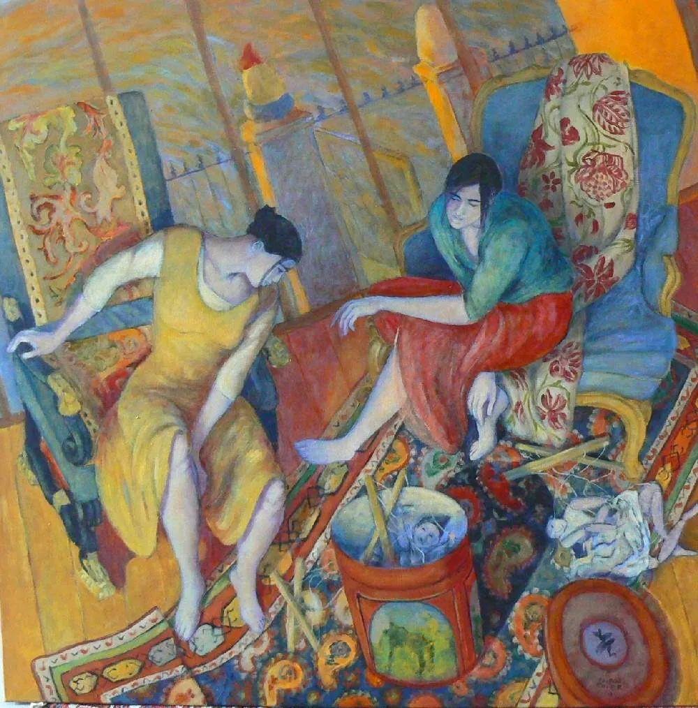 现代新纳比画派画作,色彩鲜艳丰富插图3