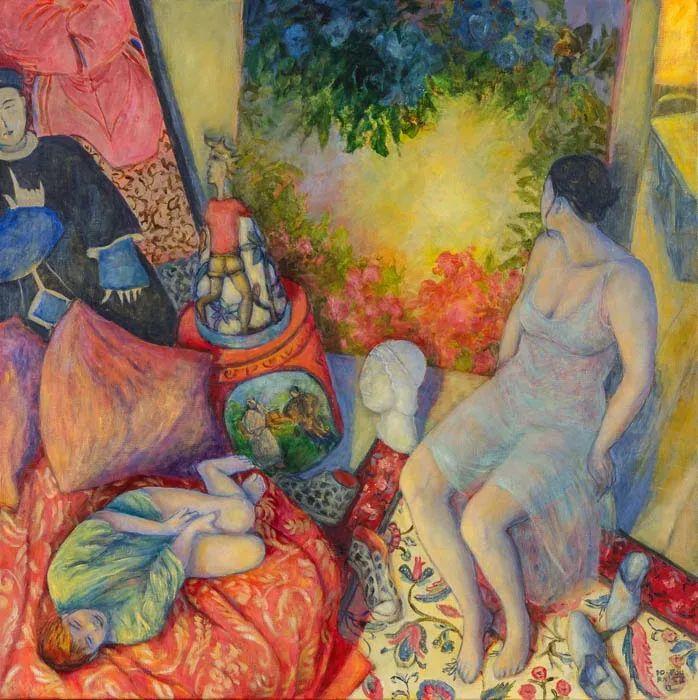 现代新纳比画派画作,色彩鲜艳丰富插图11