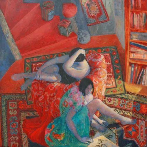 现代新纳比画派画作,色彩鲜艳丰富插图19
