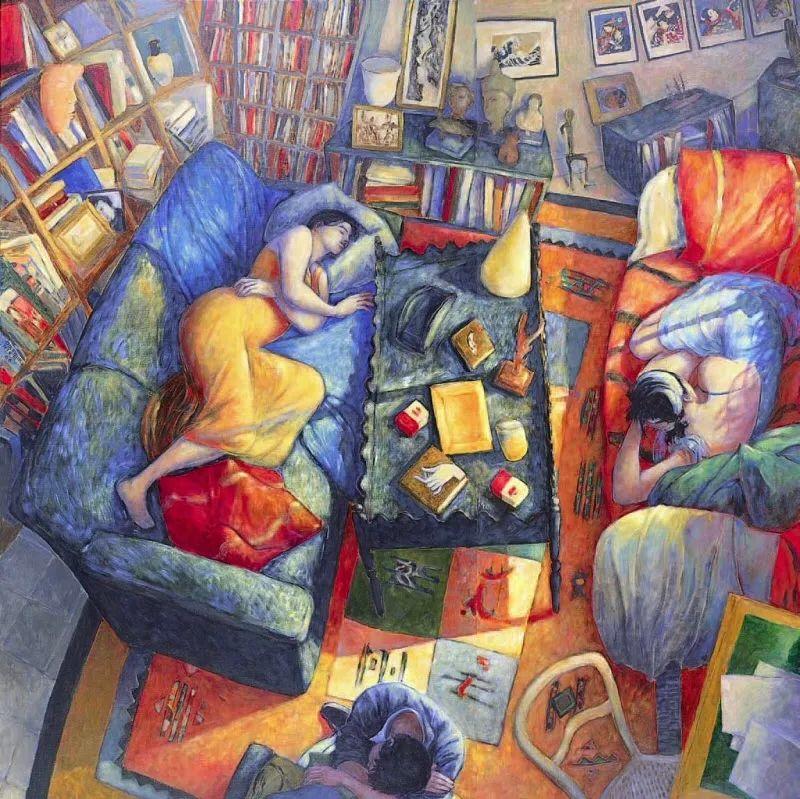 现代新纳比画派画作,色彩鲜艳丰富插图25