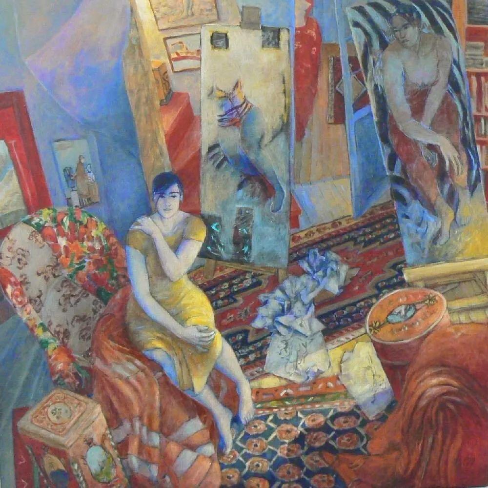 现代新纳比画派画作,色彩鲜艳丰富插图33