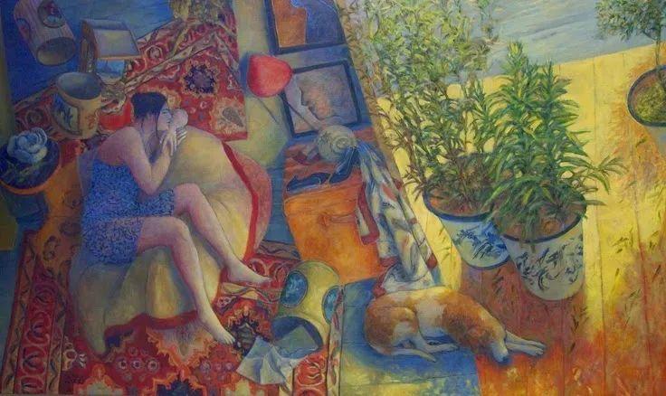 现代新纳比画派画作,色彩鲜艳丰富插图35